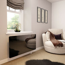 Black Glass Radiator Cover for The Lounge - Extra Small