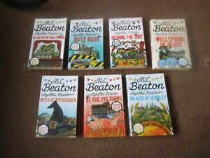 M.C. BEATON ~ AGATHA RAISIN 7 x PB Book VGC PIG, WALKERS, DEATH, DIRT WITCH,BUSY