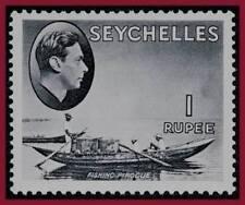 SEYCHELLES 1938 KGVI/FISHING BOAT chalk PAPER SC#145 SG#146a MLH CV£24.00 E-B5
