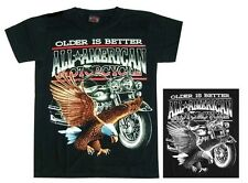 Biker Rocker T-Shirt: Adler + BIKE, TAGLIA 3xl, moto, All American Motorcycle