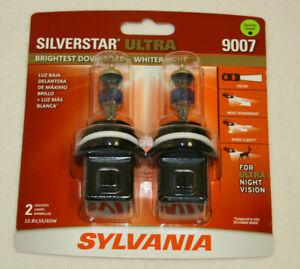 NEW Sylvania Silverstar ULTRA 9007 Pair Set High Performance Headlight 2 Bulbs