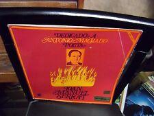 Joan Manuel Serrat Dedicado A Antonio Machado Poeta LP Novola Records VG+