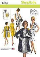 SIMPLICITY SEWING PATTERN HALF PRICE VINTAGE 1960s DRESS & COAT SIZE 6 - 22 1284