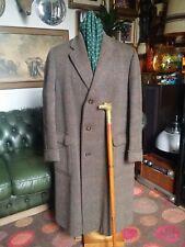 Vintage 40's 50's Quality Daks Simpson Wool Tweed Demob Over Coat WW2 Era.Large.