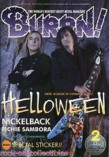 Burrn! Heavy Metal Magazine February 2013 Japan Helloween Rush Accept Nickelback