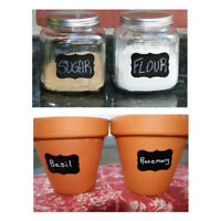 Waterproof Stickers Chalkboard Glass Bottle Labels Lables Can Be Reused For Home