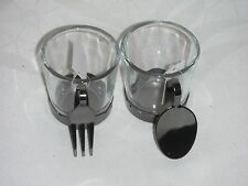 Yankee Candle Fork Spoon themed votive holders new in box