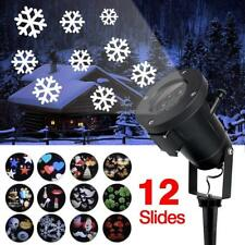 PLUG IN CARD LAWN LAMP PROJECTOR LED GARDEN DECOR 12 PATTERNS FESTIVE XMAS HOME