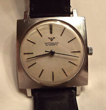 Vintage RARE Square Wittnauer Stainless Steel Automatic Watch Self Winding 50s