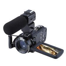 "Ordro Z20 3.0""HD 1080P Video Digital Cam 16×Zoom 24MP Recorder Mic Phone UK New"
