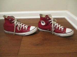 Used Sz 10 Fit Like 10.5-11 Converse Chuck Taylor All Star Hi Shoes Grape