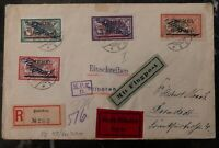 1922 Memel Early Airmail Inflation Rate Cover To Heidelberg Germany