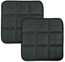 2 x BAMBOO CHARCOAL BREATHABLE SEAT CUSHIONS COVER PADS MAT FOR CAR OFFICE CHAIR