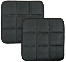 2 X carbón de bambú transpirable almohadillas de cubierta cojines de asiento silla de oficina Estera para coche