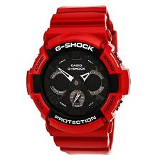 Casio G-Shock Men's GA201RD-4A Red With Black Dial Analog-Digital Watch