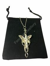 LORD OF THE RINGS ARWEN STAR EVENSTAR NECKLACE SILVER CRYSTAL PENDANT LOTR