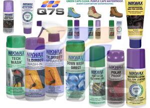 Nikwax TX Direct Tech Wash Nubuck Suede Leather Waterproof Wax Cleaning Outdoor