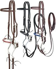 Browband Headstall - Reins - Curb Chain and Hackamore Set - 3 Color Choices