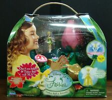 DISNEY FAIRIES TINKER BELL & FRIENDS FLYING PLAYSET FLOWER HOUSE/GOWN COMPLETE