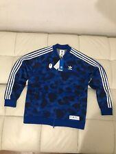 Bape Adidas Blue Camo Jacket Size L