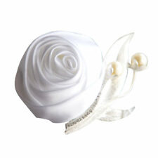 Silk Rose Boutonniere Wedding Prom Groom Groomsmen Corsage Decor Wedding Flowers