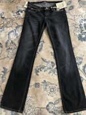"""Miss Bisou Womens Size 26 Gray Boot Cut Denim Jeans Low Rise Inseam 35"""" NWT"""
