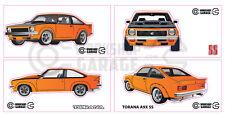Holden Torana A9X SS Sticker - Orange -  Original Rims -  4 LARGE STICKERS