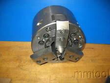 """CNC LATHE 8"""" POWER CHUCK A-6 MOUNT POWER HOLD NIKKO HWB 3-205-LA6 W/DRAW TUBE"""