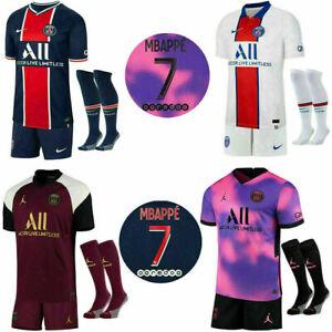 20/21 Paris Saint Germain Erwachsene Kinder Full Kits Trikot