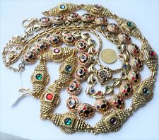 "ANTIQUE VINTAGE FANCY NECKLACES / LOT DE COLLIERS BIJOUX ""FANTAISIE"" ""COUTURE"""