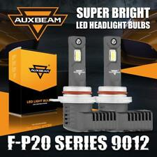 2x AUXBEAM F-P20 9012 HIR2 LED Headlight Bulb High Low Beam 50W 5000LM 6500K