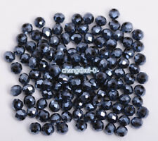 Wholesale Metallic Crystal Glass Rondelle Spacer Loose Beads 3/4/6/8/10mm