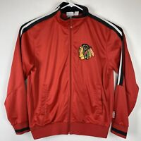 Chicago Blackhawks NHL Majestic ThermaBase Hoodie Sweatshirt Zip Up Sz Large