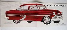 Vintage 1953 Chevrolet Colored Brochure w/ New Model Red Car on Cover