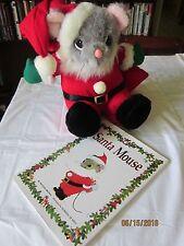 Santa Mouse plush & Santa Mouse book by Michael Brown