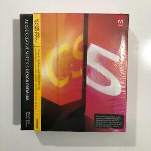 Adobe Design Premium CS5.5 Student and Teacher Edition sealed box Windows 7-10