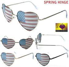 WOMENS HEART SHAPED AMERICAN FLAG SUNGLASSES new novelty FASHION EYEWEAR glasses