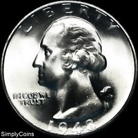 1948-S Washington Quarter ~ GEM BU Uncirculated ~ LUSTER! 90% Silver US Coin MQ