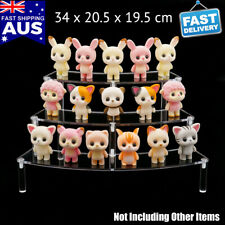 AU 3-tier Arc Acrylic Display Riser Shelf Removable Rack Clear for Figures Toys