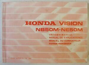 HONDA Vision NB50M NE50M Scooter Owners Handbook 1985 #36GN2600 Multi Lang