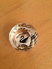 SWAROVSKI, SILVER CRYSTAL, COLLECTORS SOCIETY SCS BALL PAPERWEIGHT BOXED (TR)