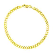 """Auténtica 14K oro amarillo puro 3.5mm Mujer 7in Cubano Curb Enlace Cadena Pulsera - 7"""""""