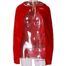 Stylish Kids Cloak Hooded Velvet Cape Child's Costume Halloween Fancy Dress - CB