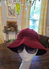 Vintage Kangol Bucket Hat Cap Maroon Size L