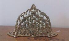 Decorative vintage ornate brass letter rack or napkin holder