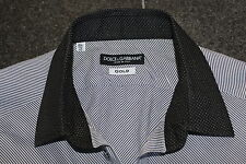 Dolce & GABBANA Oro Camicia Camicia Shirt DOLCE 40 15 3/4 GABBANA SMOKING so Cool