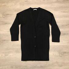 Everlane Womens Black Wool Cashmere Blend Long Tunic Cardigan Sweater Size M