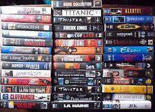 JOB LOT N°3 de 40  K7 CASSETTE  VHS FILM ACTION THRILLER OU POUR ENREGISTREMENT