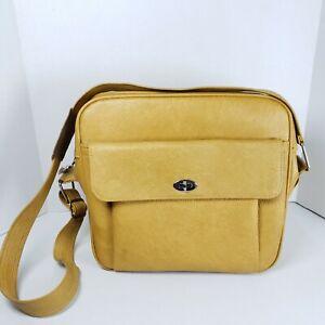 Vintage Samsonite Profile Gold Overnight Carry-On Luggage Bag Retro Mid Century