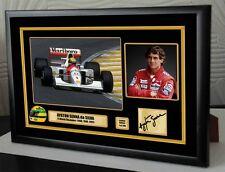 "AYRTON Senna McLaren F1 champion du monde encadrée toile signé print ""grand don"""